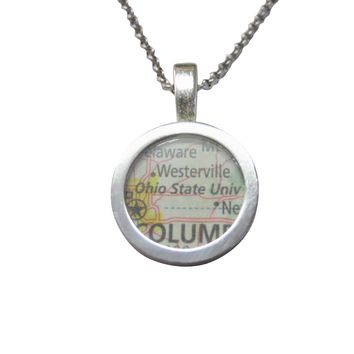Ohio State University Map Pendant Necklace