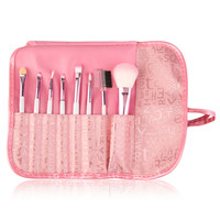 8 Pieces Makeup Brush Set Comestic Brushes Pink Letter Bag Portable Cute Hot Selling