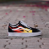 ku-you Vans Old Skool  Flames