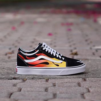 QIYIF Vans Old Skool  Flames