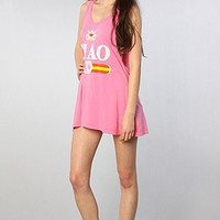 Rebel Yell The Ciao Racerback Tunic in Bubblegum,Dresses for Women
