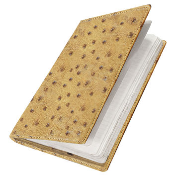 Ostrich Moleskine Journal Cover, Saddle, Journals