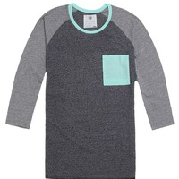 On The Byas Bobby Baseball T-Shirt - Mens Shirt - Black/Mint