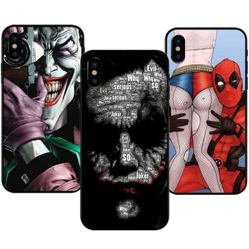 Deadpool Dead pool Taco  iron Man Marvel Captain America Black soft silicone rubber Phone Case For iPhone 5 5s SE 6 6s Plus 7 7Plus 8 8Plus X 10 AT_70_6