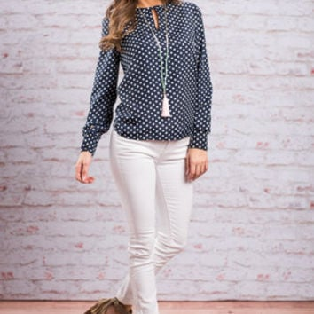 The Kat Blouse, Navy