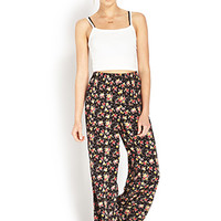 Floral Frenzy Wide-Leg Pants