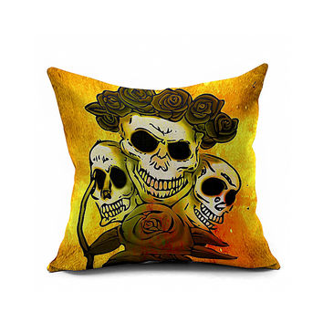 Cotton Flax Pillow Cushion Cover Halloween    WS060