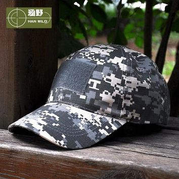 HAN WILD 11Style Snapback Camouflage Tactical Hat Patch Army Tactical Baseball Cap Unisex ACU CP Desert Cobra Camo Hats For Men