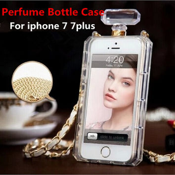 Luxury TPU Perfume Bottle Case For iphone 7/7plus/6/6plus/SE/5C/5S/4 Cover For samsung s3/s4/s5/s6/s6edge/s7/s7edge/note2 3 4 5