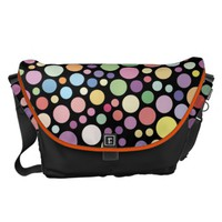 The colorful dot pattern courier bag