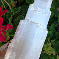 X-Large Selenite Crystal Tower ~ SZE7
