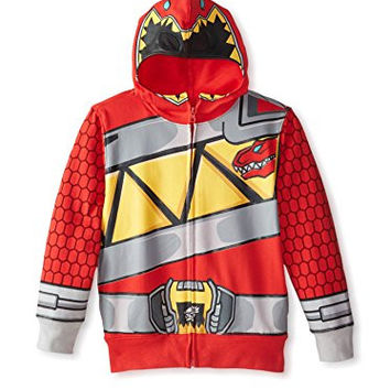 Power Rangers Little Boys Red Ranger Dino Charge Costume Hoodie, Large-7