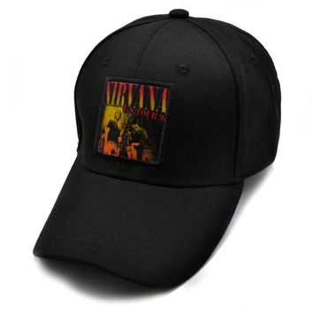 Nirvana cap Rock Band Mens Caps Brand Snapback And Sun Hats Visor Duck Tongue Punk Brand cap