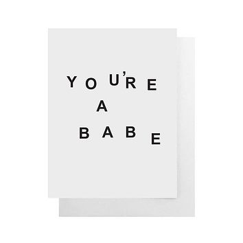 Cult Paper - You're A Babe Card
