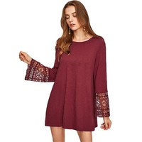 Candace Flute Sleeve Shift Dress