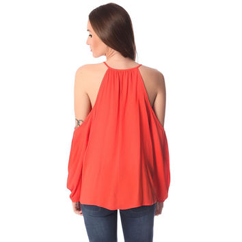 Q2 Store Orange long sleeve top