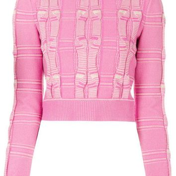 DCCKIN3 Fendi Embroidered Cropped Sweater