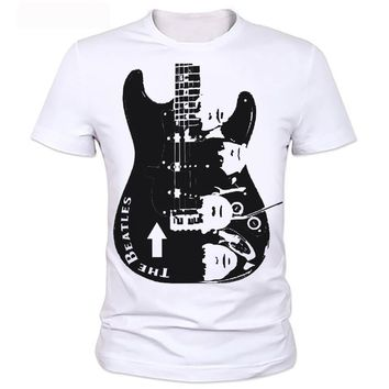 Guitar Men T shirt Printing Rock Band The Beatles/ Nirvana/Guns N' Roses/Che Guevara/t shirt classic Casual Fashion T-shirt 120#