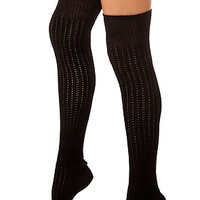 K.Bell socks Old Fashioned Over the Knee Sock Black - Karmaloop