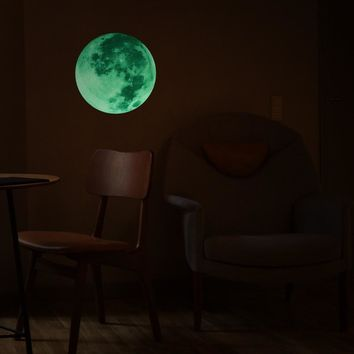 Moon Light Luminous Glow in the Dark Wall Sticker