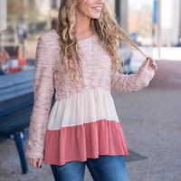 Fall For Layers Top, Pink