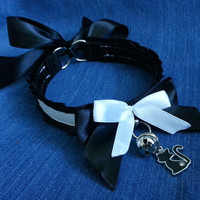 Maid kitten collar (No. CHARMs INCLUDED) BDSM Petplay Choker Gothic