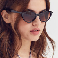 Slim Retro Cat-Eye Sunglasses | Urban Outfitters