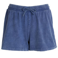 Acid Wash Boxer Shorts - Blue