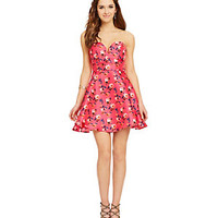 B. Darlin Sweetheart Floral-Print Dress | Dillard's Mobile