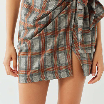 UO Plaid Wrap Mini Skirt | Urban Outfitters
