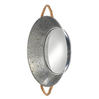 Unique Pie Form Design Tin Metal Wall Mirror