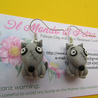 Frankenweenie Sparky Tim Burton Kawaii Polymer Clay Earrings
