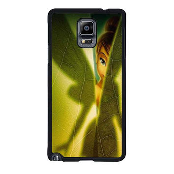 tinkerbell green leave samsung galaxy note 4 note 3 cover cases