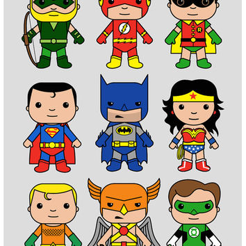 Super Hero wall art, DC nursery, Superman, Batman, Flash, Aquaman, Green Lantern, boys bedroom, nursery wall art, boys wall art