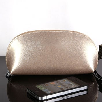 Patent leather makeup bags
