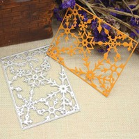 Square Frame Snowflake Metal Cutting Dies Stencils Christmas Xmas Cards Scrapbooking Embossing Folder