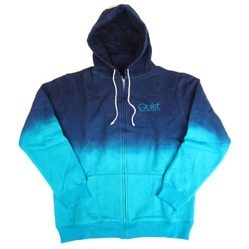 Quiet Life: Dip Dyed Zip Up Hoodie - Blue