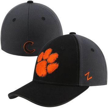Zephyr Clemson Tigers Storm Cloud Fitted Hat - Black/Gray