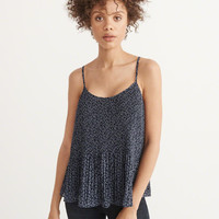 Womens Pleated Cami | Womens Tops | Abercrombie.com