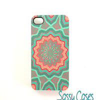 Mint iPhone 4 and 4S Case Quilted Flower Ships from USA