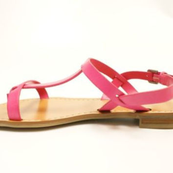 Marc Fisher Rian Women Pink Open Toe Leather Thongs Sandals Shoes 6 M