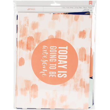 American Crafts Designer Desktop File Folders 6/Pkg-Good Day
