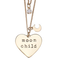 LOVEsick Moon Child Tattoo Choker & Double Chain Necklace Set