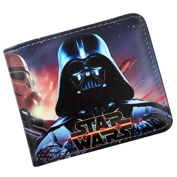 Star Wars Force Episode 1 2 3 4 5 Men Teens Fashion Cool  Wallet Credit Card Holder Purse With Coin Pocket AT_72_6