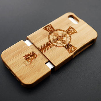 Buy 1 Get 1 Free - Cross Pattern Wood iPhone 5 / 5S Case - Custom iPhone5 Case Wood - Unique iPhone 5s Case Wood - Wooden iPhone 5 Case