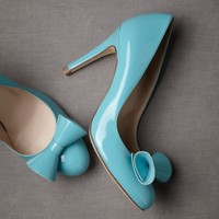 Covert Manuscript Heels Blue in  SHOP Gifts Something Blue at BHLDN