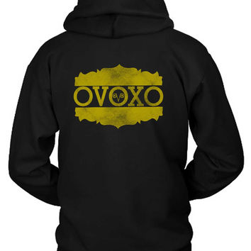 Drake Ovo Logo Gold Hoodie Two Sided