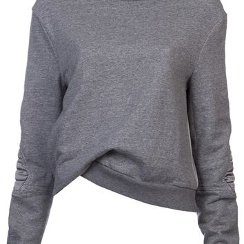 3.1 Phillip Lim Gathered Hem Sweatshirt