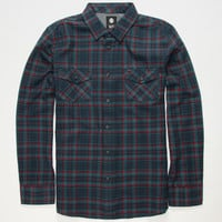 Element Mccoy Mens Flannel Shirt Blue  In Sizes
