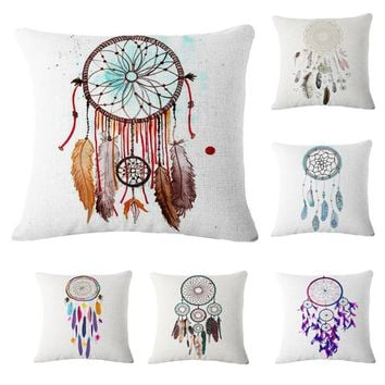 New Arrival Dream Catcher Linen Cushion Cover Throw Pillow Case Cover Sofa Bed Car Decoration 45x45cm
